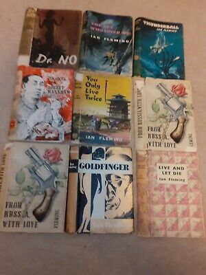 James Bond 007 Ian Fleming Original Dust Jackets • 8.99£