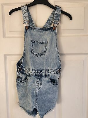 Primark Denim Girls Short Dungarees Ages 9-10 • 1.20£