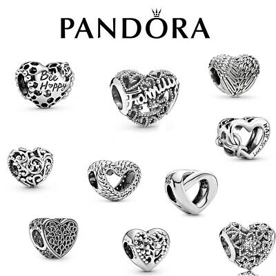 PANDORA S925 New Silver With Pandora & Gift Charm Heart Genuine ALE Brand New • 10.88£