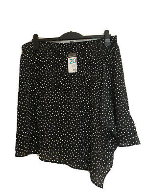 Black And White Primark Polka Dot Skirt Size 20 • 3£