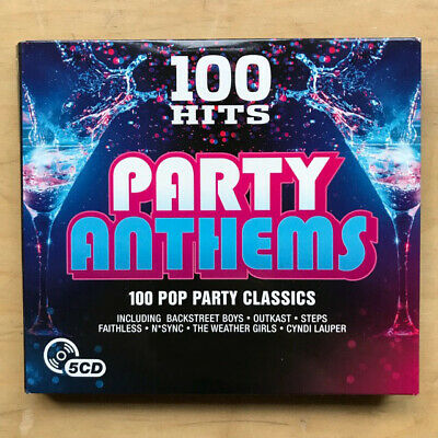 £10.50 • Buy Various Pop Hits Party Anthems - 100 Hits Cd 2016 5cd Set In Fold Out Card Cover