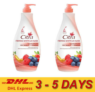 $ CDN50.48 • Buy 2 X Citra Firming White UV Aura Super Berry + Ginseng Hand And Body Lotion 400ml
