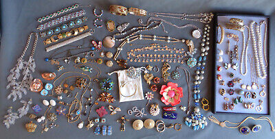 $ CDN63.10 • Buy HUGE 250 Pc Lot Wearable Blemished Jewelry Vintage To Recent Rhinestones Signed+
