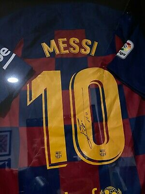 AU773.70 • Buy Lionel Messi Signed Barcelona Nike Jersey Inscribed Leo Autograph