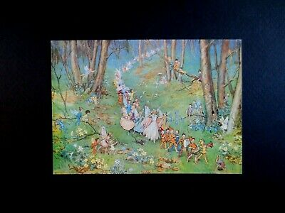 L296 Vintage Unused Margaret Tarrant Xmas Greeting Post Card ~ The Fairy Way   • 17.37£