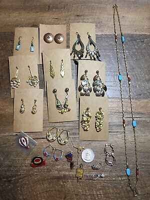 $ CDN37.87 • Buy Vintage To Now Estate Find Jewelry Pin Lot Junk Drawer Unsearched Untested Wear