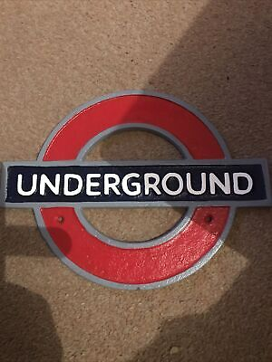 London Underground, Tube, Cast Iron Reproduction Sign 27 Cm (w) 21 Cm (h) • 16.49£