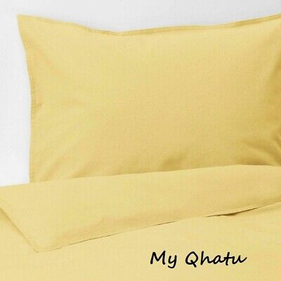 Ikea ANGSLILJA King Duvet Cover And 2 Pillowcases Yellow - NEW • 36.52£