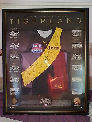 AU4250 • Buy Richmond Tigers Signed 2020 Premiers AFL Jumper Gurnesey Jersey