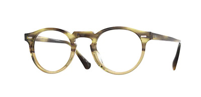 $193.99 • Buy Authentic Oliver Peoples 0OV 5186 GREGORY PECK Canarywood Gradient Eyeglasses