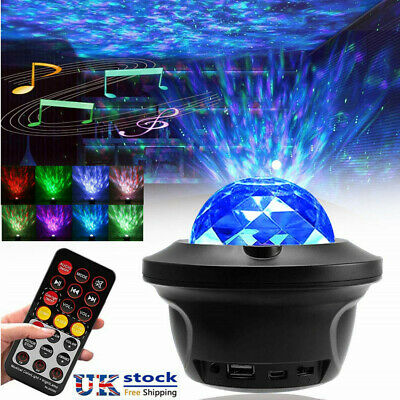 AU35.59 • Buy LED Night Light Projector Galaxy Starry Ocean Wave Star Sky Room Party Lamp AU