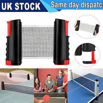 UK Portable Extendable Net Table Tennis Indoor Ping Pong Games Replacement Set • 8.99£