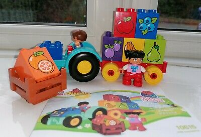 Lego Duplo My First Tractor Set No.10615 Complete With Boy & Girl Figures No Box • 3£