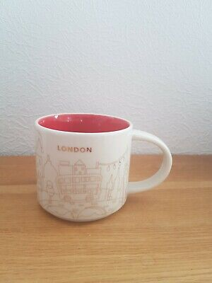 STARBUCKS  Limited Edition Glass London Mug You Are Here New Label On  • 25.99£
