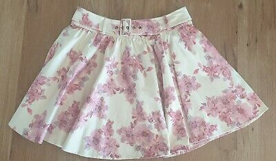 AU29.95 • Buy FOREVER NEW Size 14 Cream Based Pink Floral Skirt With Belt