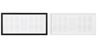 IKEA Ribba Picture Frame Rectangular Photo Display For 13 Pictures 25x52cm • 15.99£