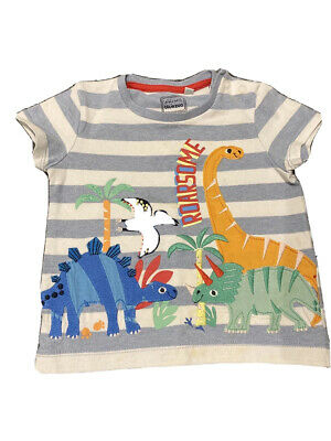 Blue Zoo 9-12 Months Baby Dino 🦖 T Shirt With Shoulder Poppers  • 2.90£