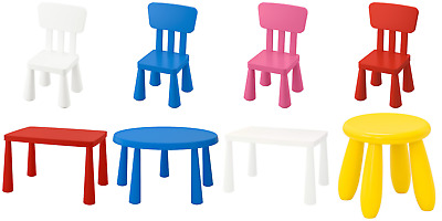 IKEA Mammut Children's Table Chair Plastic Multicolour Indoor Outdoor Kids • 19.99£
