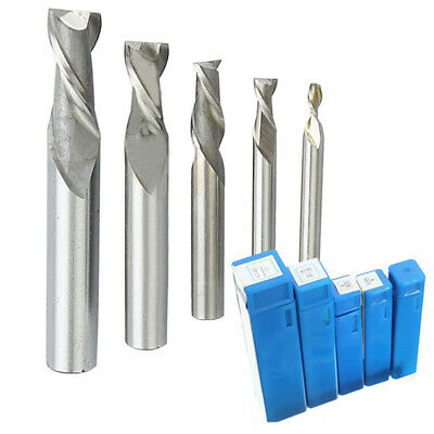 Carbide End Mill 2 Flute 4mm - 12mm ALTiN Coated Slot Drill - Engineering Tools • 2.99£