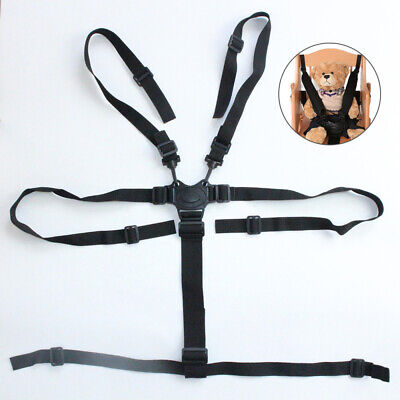 £4.14 • Buy 5 Point Safety Belt Strap Harness Pram Buggy Portable  For Baby Chair Stroller