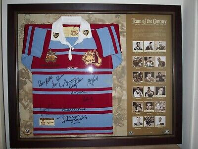 AU4000 • Buy 2008 Rugby League Team Of The Century Framed & Signed Jersey Limited Edition