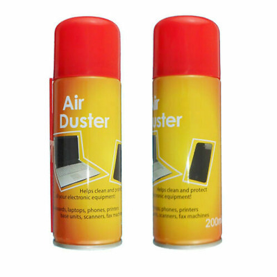 2 X 200ml Compressed Air Duster Cleaner Can Canned Laptop Keyboard Mouse Phones • 5.98£