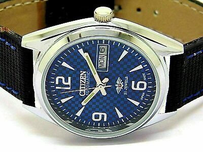 $ CDN41.77 • Buy Citizen Automatic Men's Steel Blue Dial Vintage Day/date Japan Wrist Watch Run