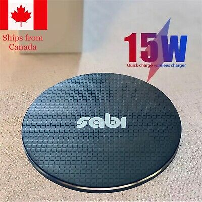 $ CDN9.95 • Buy 15W Qi Wireless Charger For Pad IPhone 11 12 Pro XS Max XR Samsung S9 S10+ S20