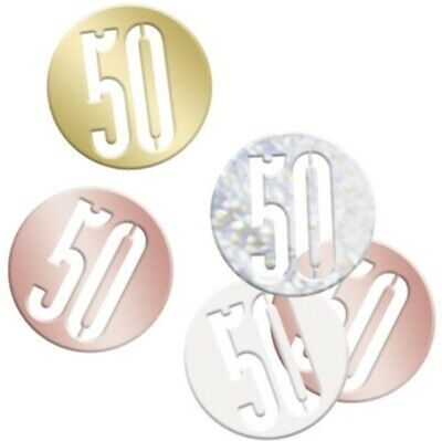 Age 50 Birthday Rose Gold Table Top Confetti • 2.79£