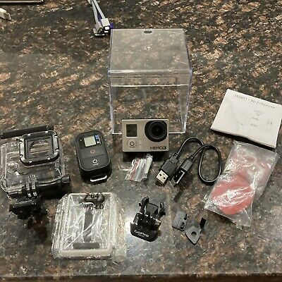 $ CDN88.80 • Buy GoPro HERO3 Silver Camera And Accessories W/ Wi-Fi Remote & Charger BUNDLE EXTRA
