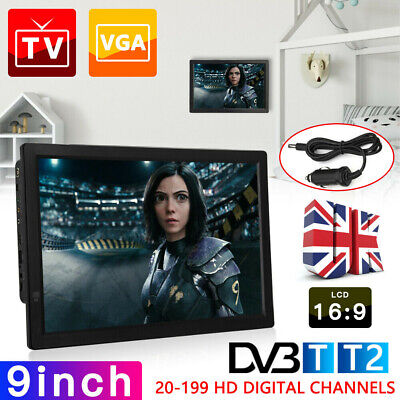 7/9/10/12/14inch Portable 1080P HD TV Freeview HDMI Digital Television Player  • 77.99£