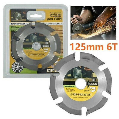 £8.99 • Buy 1 PCS 5 Inch 125mm Angle Grinder Cutting Disc Wood Saw Blade For Carving Tool 3T