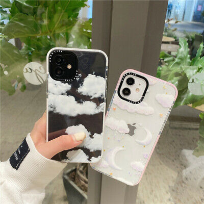 AU7.99 • Buy For IPhone 12 11 Pro Max XS XR 7 8+ Cute Moon Clouds Clear Shockproof Phone Case