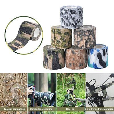 £4.18 • Buy 1/3pcs Self-adhesive Camouflage Wrap Rifle Gun Sport Hunting Camping Camo Tape