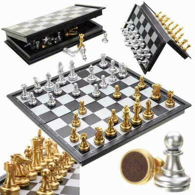 £13.99 • Buy Large Chess Set Folding Chessboard Magnetic Pieces Board UK