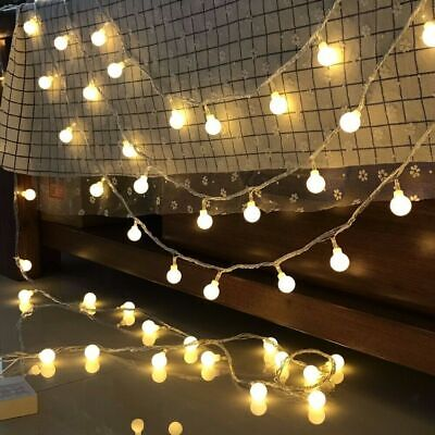 80LED 10M Globe Bulb Ball Fairy String Lights Battery Party Garden In&Outdoor • 6.99£