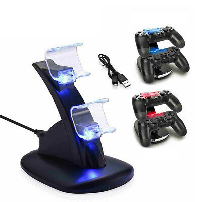 AU9.99 • Buy For PlayStation PS4 Controller Charger Dock Station Dual USB Fast Charging Stand