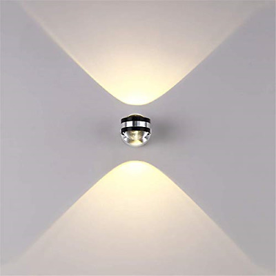 Louvra LED Wall Light 6W Small Wall Lights Indoor Round Shape Wall Uplighters • 24.46£