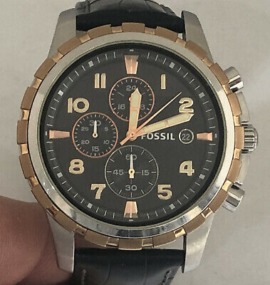 Mens Fossil Chronograph Quartz Watch With 24hr Dial Box And Booklet • 45£