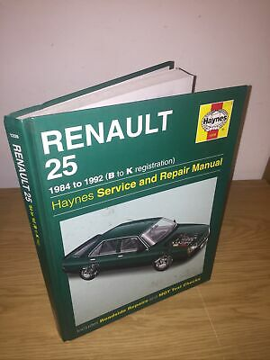 Renault 25 1984 - 1992 Haynes Service And Repair Manual Hardback • 9.95£