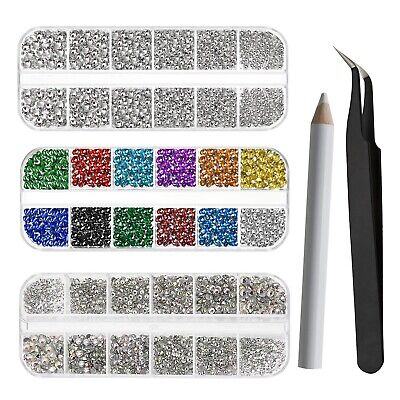 9048pcs Mixed SIze Multi Coloured Crystal Rhinestones Set For Nail Art DIY Craft • 13.57£