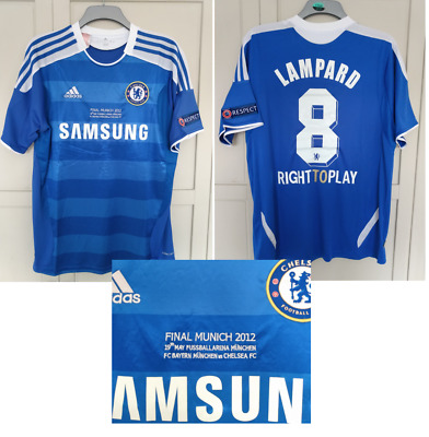 Chelsea 2012 CHAMPIONS LEAGUE FINAL SHIRT LAMPARD 2011 Jersey SIZE LARGE • 20£