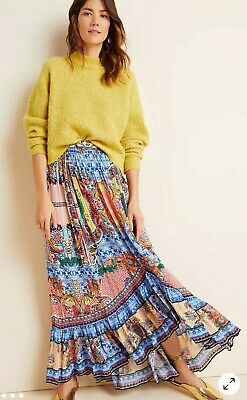 Anthropologie Bhanuni By Jyoti Allaire High-low Maxi Skirt Size 16 New RRP £140 • 40£