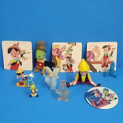 Vintage Lot Plastic Disney Toy Figures Pinnochio Lot Coasters Plush 11 Pc • 10.85£