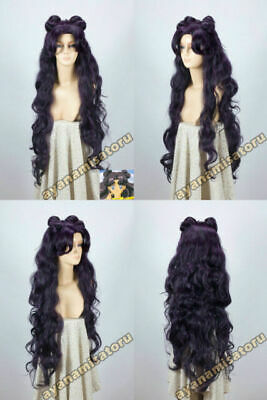 £28.59 • Buy Sailor Moon Luna Artemis New Long Purple Black Cosplay Party Wigs Free Shipping