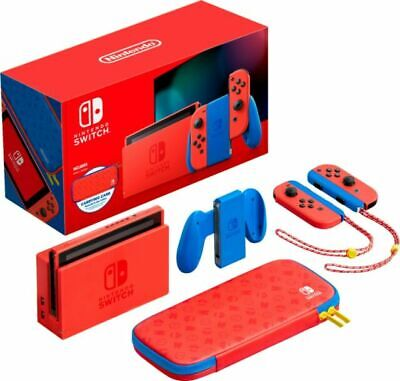 $ CDN380 • Buy Nintendo Switch HAC-001(-01) Mario Red & Blue Edition - 32GB With Carrying Case