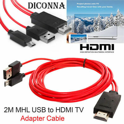 $ CDN12.46 • Buy MHL 11Pin Micro USB To HDMI 1080P HD TV Cable Adapter For Android Samsung Phone