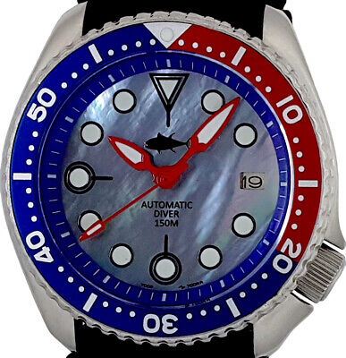 $ CDN36.40 • Buy Vintage Watch SEIKO Diver 7002 PEPSI Mod W/Gimlet Set On Mother Of Pearl Dial