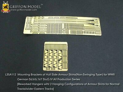 Griffon 1/35 #L35A112 Armour Skirts (Non-Swinging Type) For Dragon StuG.IV • 7.37£
