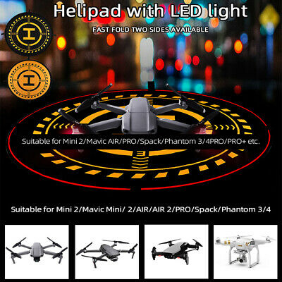 AU43.22 • Buy 70cm Drone Accessories Landing Pad With LED Light Foldable For DJI Phantom 3 4